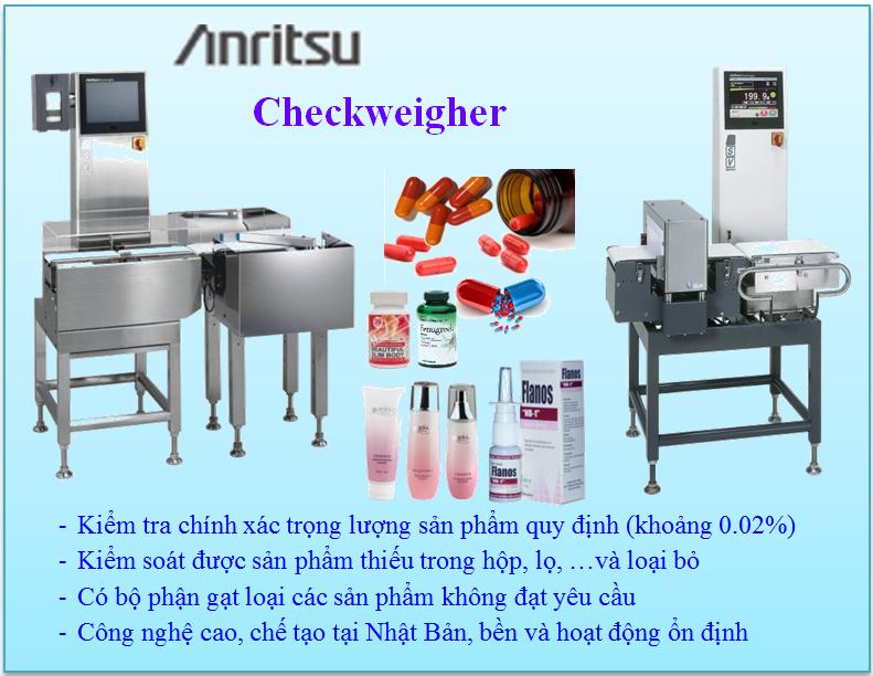 Cân kiểm trọng lượng Anritsu tốt nhất hiện nay cho ngành dược Phẩm
