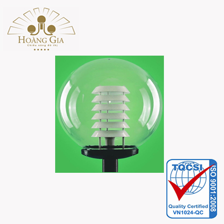 Đèn cầu D400 tán phản quang