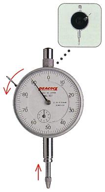 Đồng hồ so cơ 0,01mm, 107-BL, Peacock