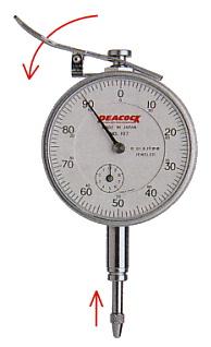 Đồng hồ so cơ 0,01mm, Model 107-LL