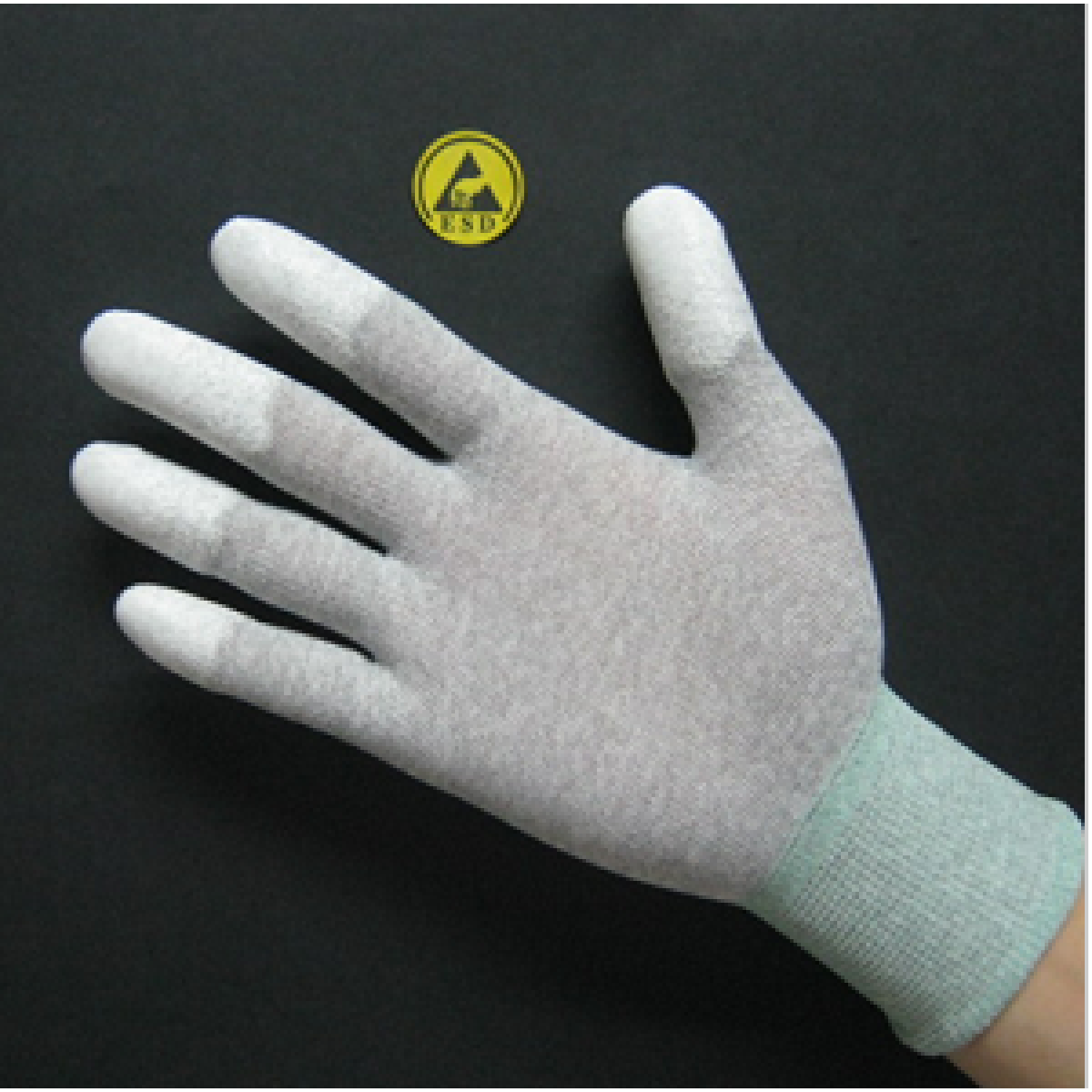 Găng tay dệt kim tĩnh điện Đài Loan phủ cao su đầu ngón