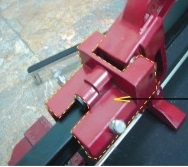 Linh kiện bàn cắt gạch (màu đỏ)