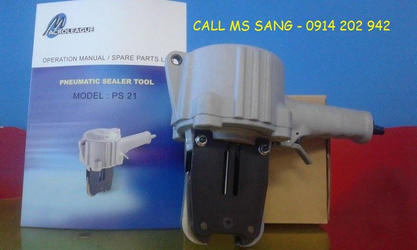 Máy bấm bọ sắt bấm seal dùng hơi khí nén đai 19-25-32 PS21