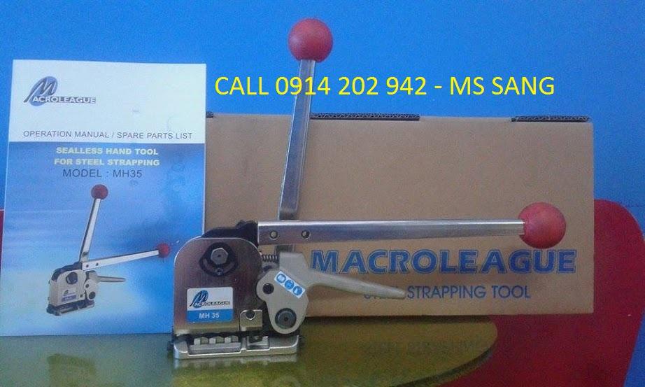Máy đóng đai thép 3 trong 1 không dùng bọ Macroleague Mh35