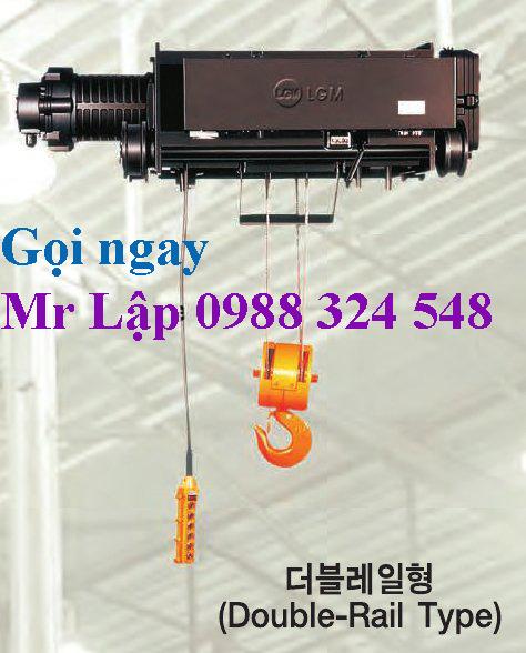 Pa lăng điện cáp LGM Hàn Quốc, LGM wire rope hoist