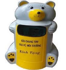 Thùng rác hình Gấu trúc - Cung cấp thùng rác thú trên toàn quốc
