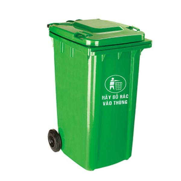Thùng rác nhựa, thùng rác 240l, thùng rác có bánh xe