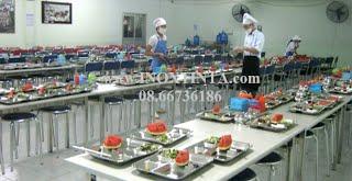 BÀN GHẾ INOX NHÀ ĂN CÔNG NHÂN. INOX TINTA VIETNAM, Tel: 08.66736186, bàn ghế inox nhà ăn công nhân