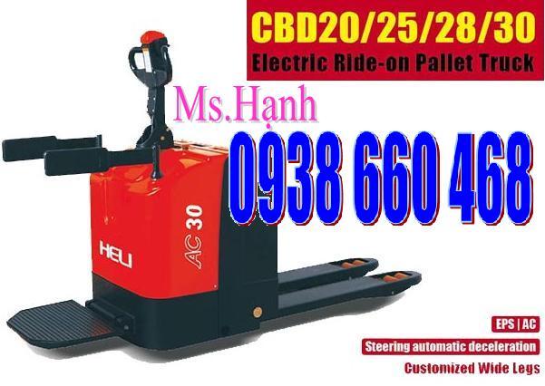 Xe nâng điện thấp |Hand pallet truck electric CBD Heli 2 tấn