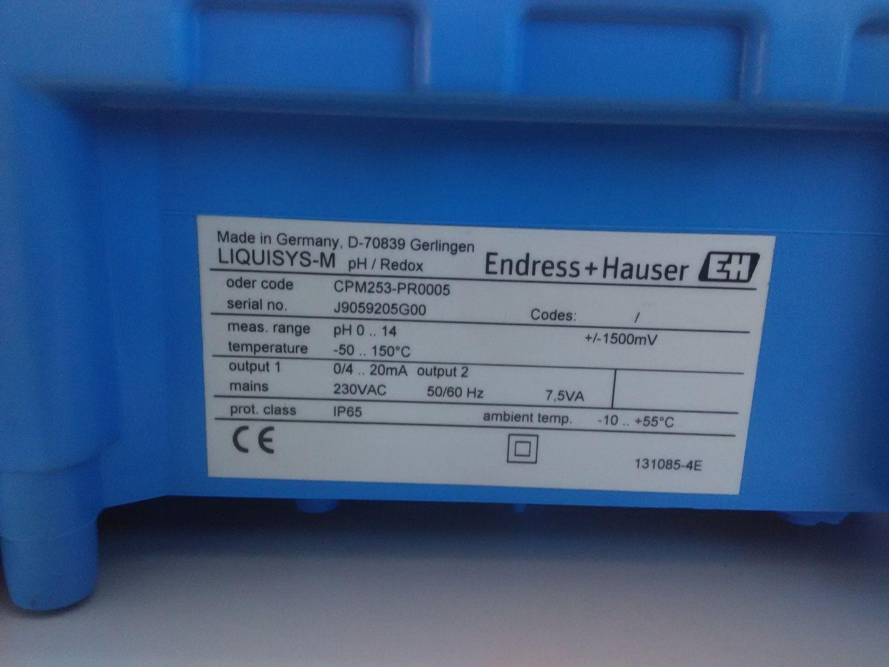 Máy đo PH Endress Hauser CPM253-PR0005