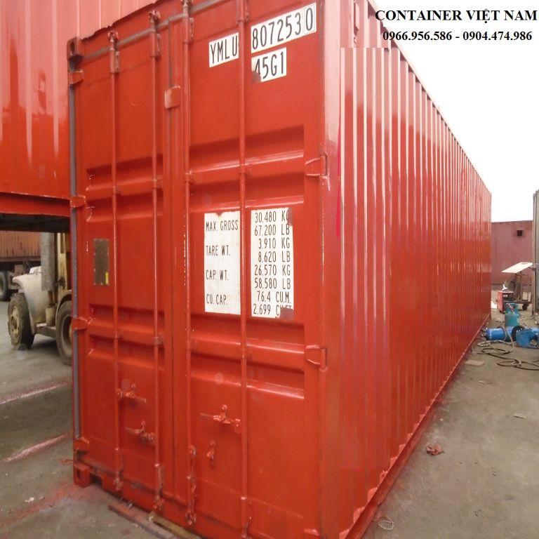 Mua bán cho thuê container làm kho, container chở hàng