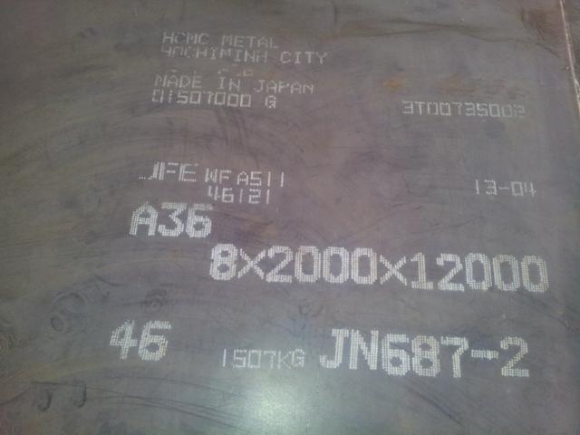 Thép tấm các loại: SS400/A36
