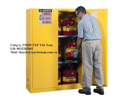 Tủ đựng hóa chất chống cháy 45gal/170 lít loại cửa Manual