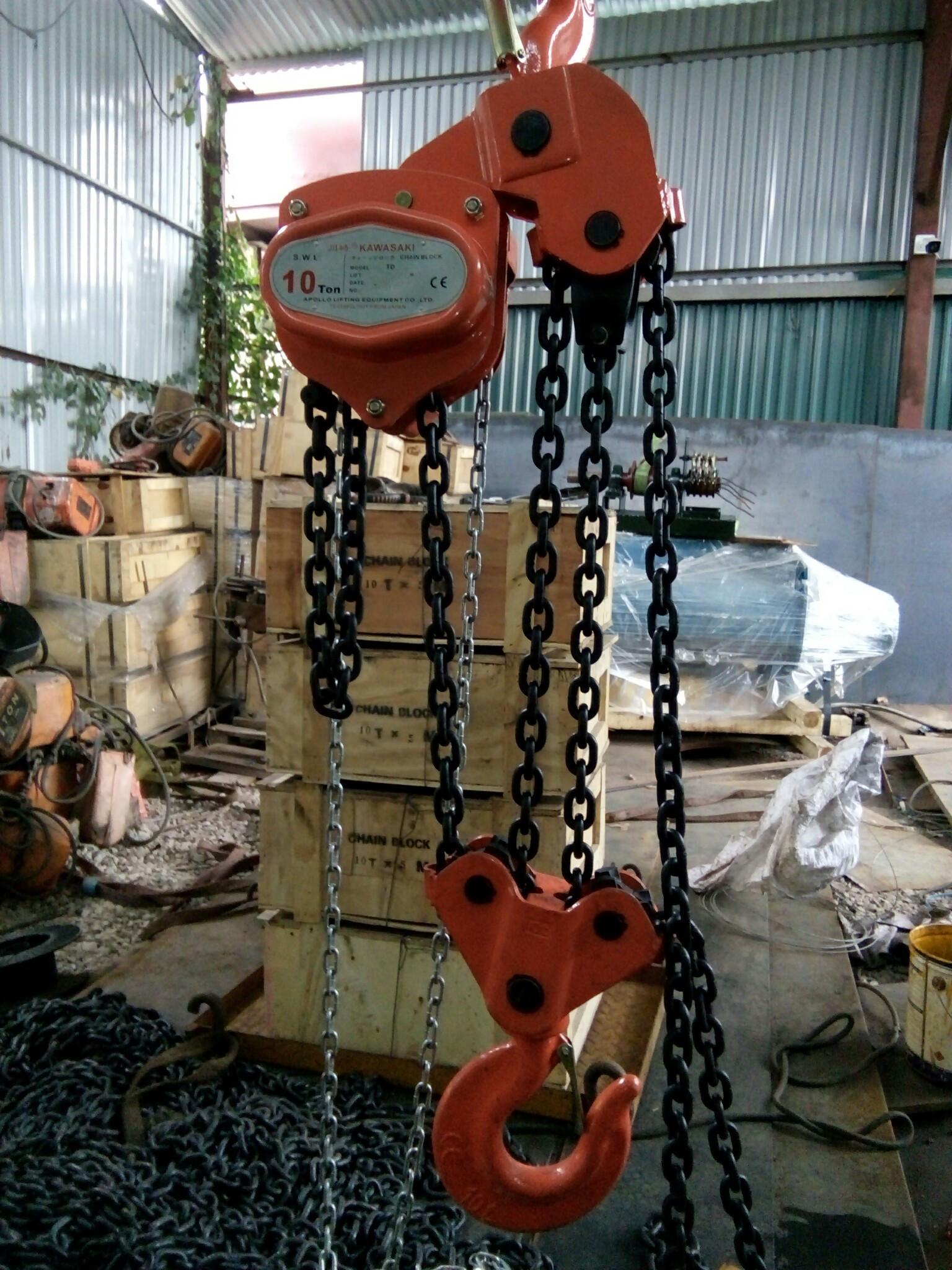 0941889251 - Con chạy đẩy tay (Trolley), Pa lăng xích kéo tay chính hãng 10 tấn, 20 tấn KAWASAKI giá tốt nhất,