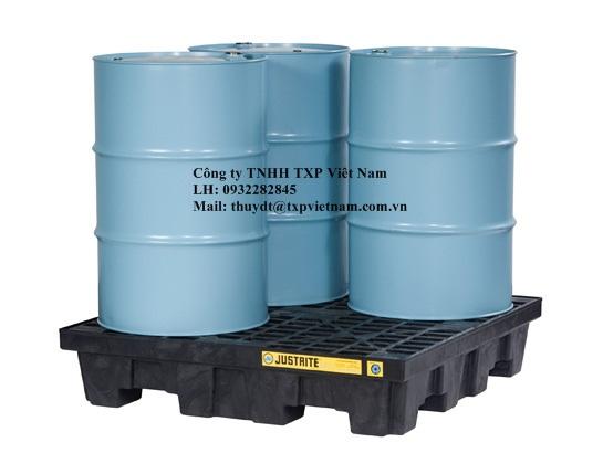 28635 - Pallet chống tràn dầu, hóa chất chịu cả axit và hóa chất ăn mòn