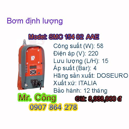 Bơm định lượng hóa chất kiểu điện tử DOSEURO SMC 154 02 AAE 58W
