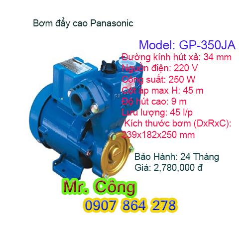 Máy bơm nước đẩy cao Panasonic