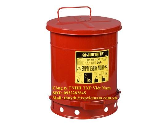 Thùng đựng rác thải dầu Oily Waste Can  10Gal/34 lítJustrite, Mỹ