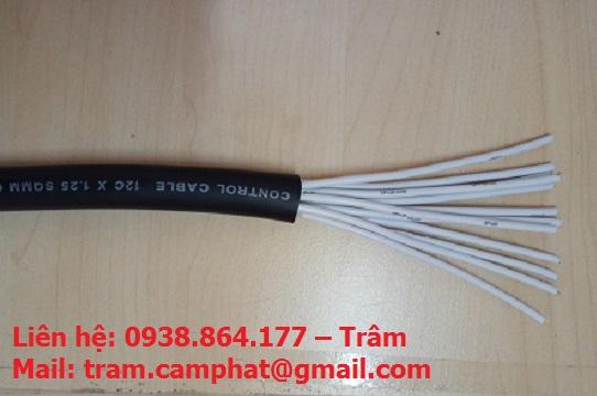 Dây cáp điều khiển Sang Jin Hàn Quốc 12x1.25 SQMM