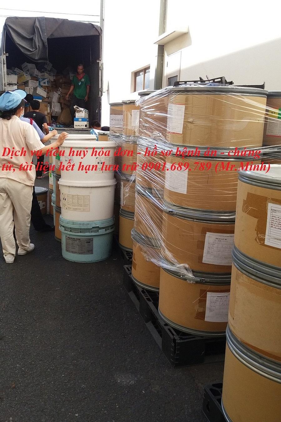 Dịch vụ tiêu huỷ hóa đơn - hồ sơ bệnh án - chứng từ , tài liệu hết hạn lưu trữ