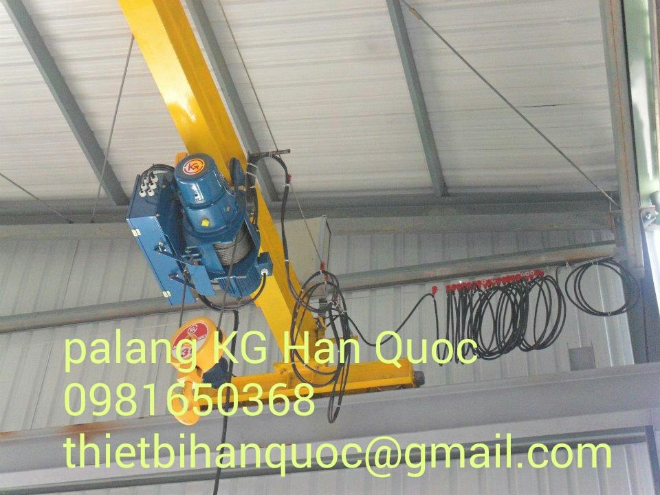 Palang cáp điện dầm đơn-1 cấp tốc độ KG Hàn Quốc