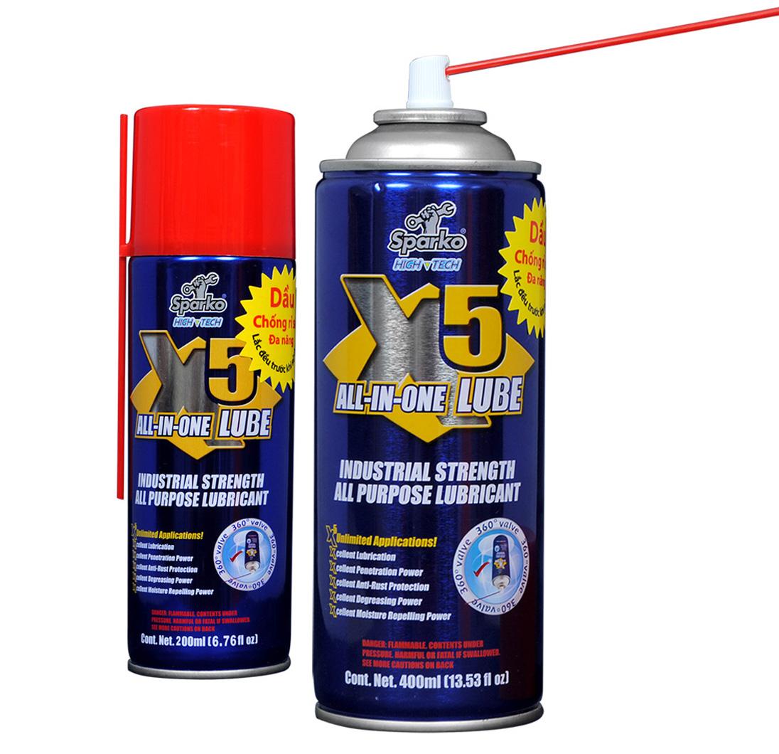 Phân phối dầu chống rỉ sét Sparko X5 400ml