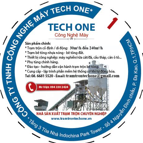 Trạm Trộn Bê Tông - Nhà Sản Xuất  Tech One