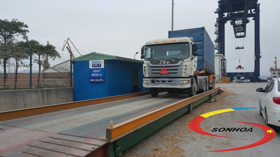 Cân ô tô trọng tải từ 40 tấn đến 150 tấn