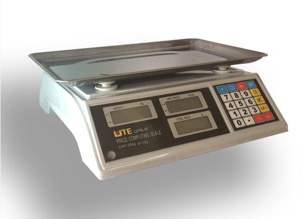 Cân tính tiền đơn giản 2 màn hình, cân tính tiền siêu thị UPA