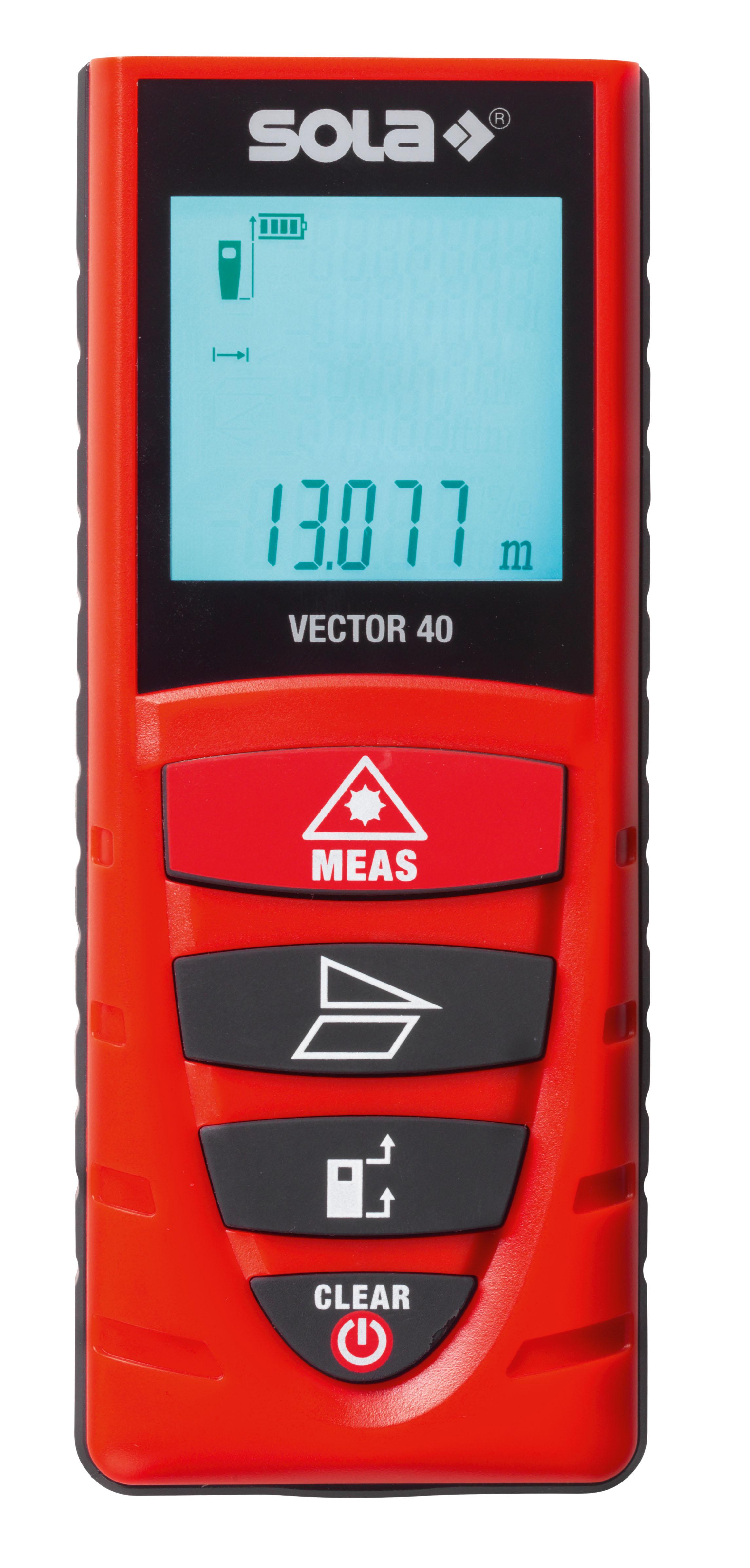 Dụng cụ đo khoảng cách cầm tay bằng laser SOLA 40m xuất xứ Châu Âu