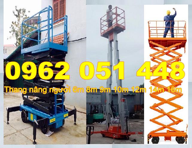Thang nâng người, thang nâng ziczac, thang nâng trong xây dựng 6m 8m 9m 10m 12m 14m giá rẻ nhất