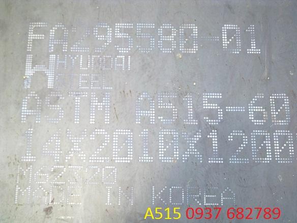 thép tấm chịu nhiệt a515 dày 6ly, 10ly, 8ly + thông tin thép a515 + giá thép tấm a515