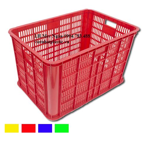 Thùng nhựa VN04-HL với kích thước ngoài theo tiêu chuẩn 610x420x390mm là loại sóng nhựa được sử dụng phổ biến và rộng rãi trên thị trường.