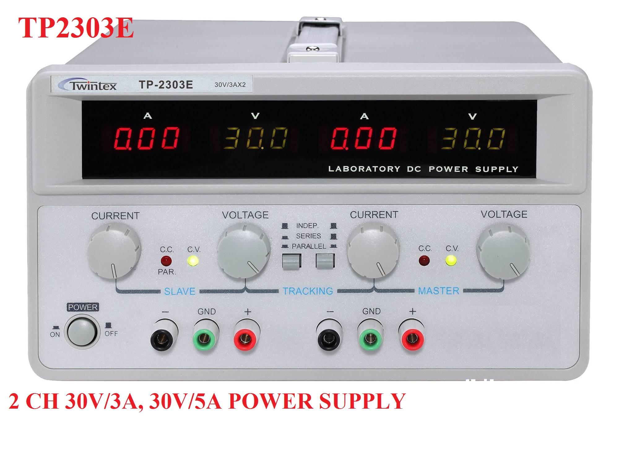 Bộ nguồn một chiều DC Twintex TP 2303E đầu ra 2 ngõ ra 30V/3A,30V/5A