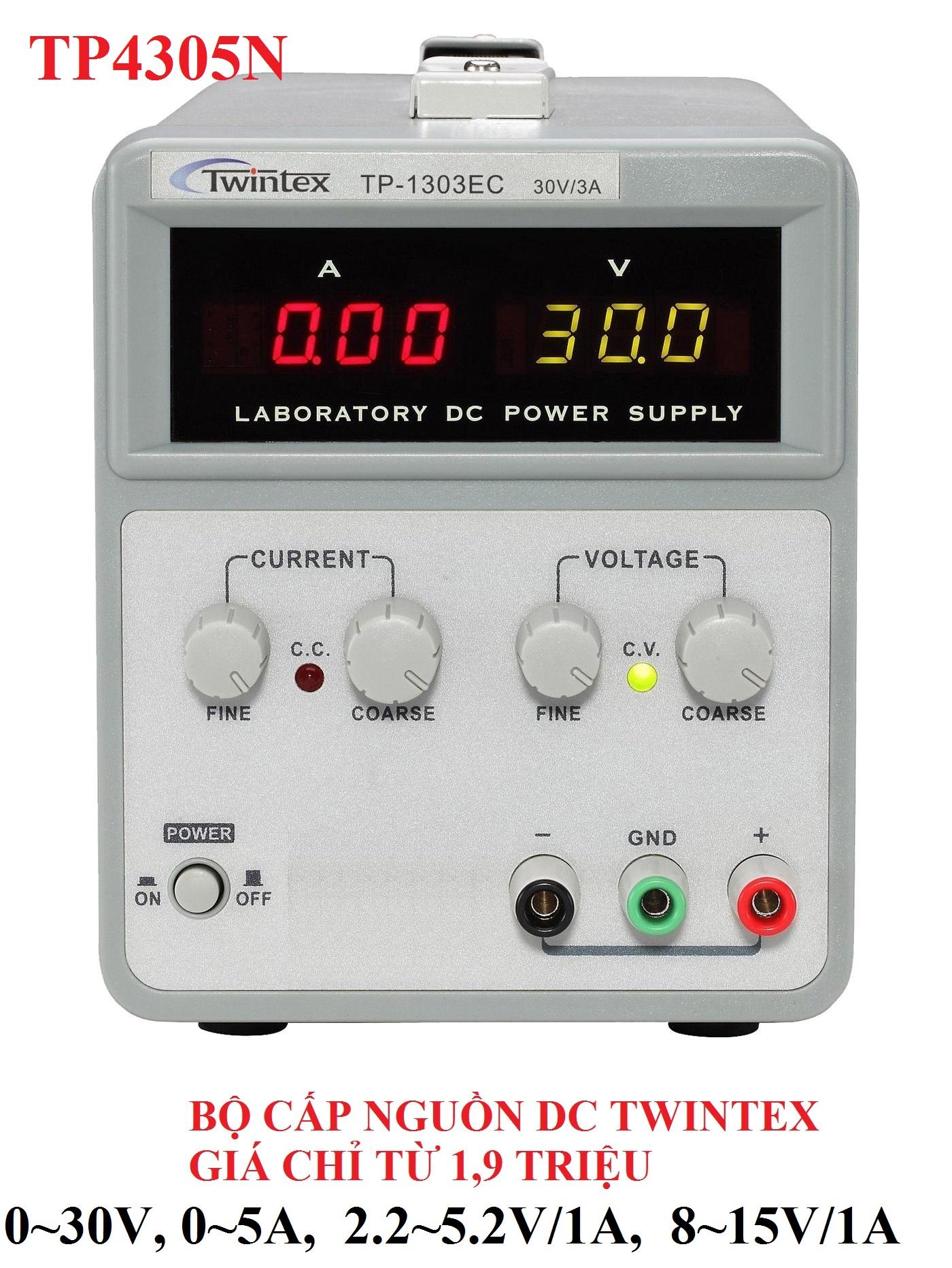 Bộ nguồn một chiều DC Twintex TP1303EC đầu ra 0~30V, 0~3A