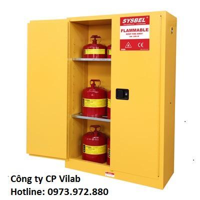 Tủ đựng hóa chất chống cháy 45 Gal – 170 lít, loại cửa tự đóng self-close