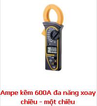 Ampe kềm 600A đa năng xoay chiều - một chiều