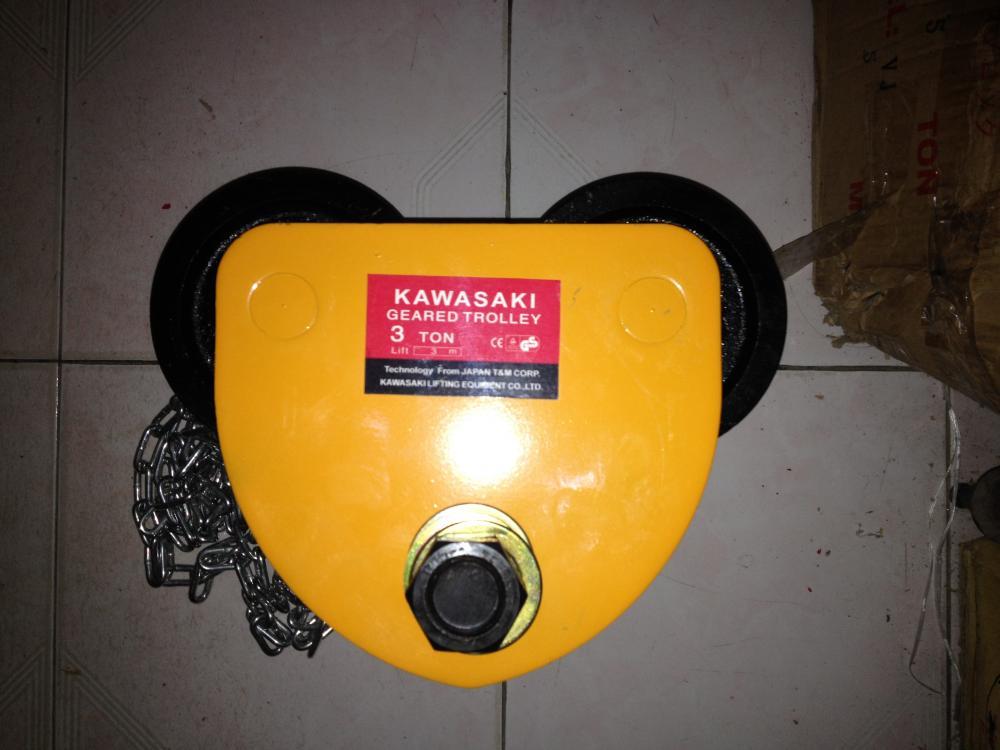 Con chạy Trolley 5 tấn, 10 tấn, Con chạy đẩy tay kawasaki chính hãng giá tốt nhất tại Hà Nội