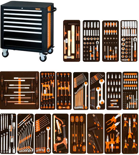 Tủ dụng cụ 7 ngăn và 292 chi tiết