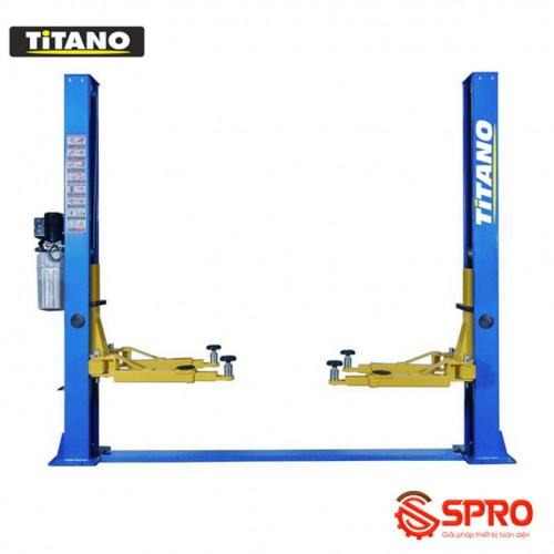 Cầu nâng 2 trụ Titano TB-4000S, giằng dưới cóc giật 1 bên