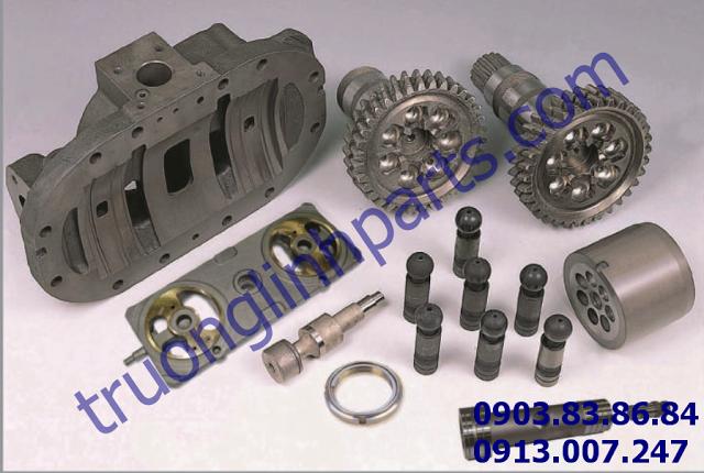 Cấu tạo bơm thủy lực hpv 091 lắp cho xe Hitachi ex200-2 ex220-2 ex200-3, ex220-3