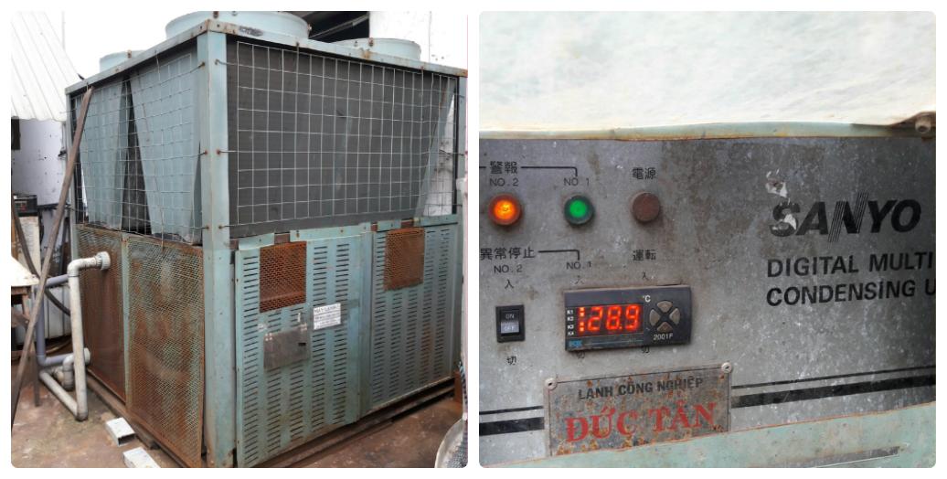 Máy làm lạnh giải nhiệt gió SANYO 40HP