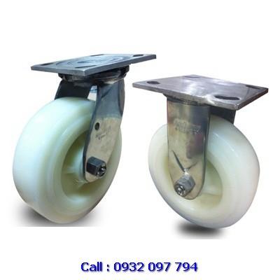Bánh xe đẩy inox 304 PA ( Nylon ), bánh xe càng inox Colson tải nặng