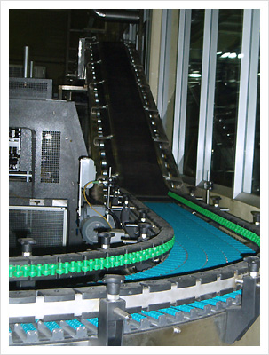 Case/Carton Infeed Metering Belt Conveyor, Case Turner.