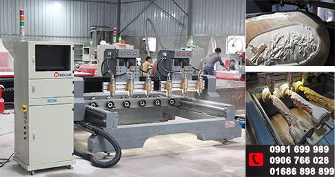 Làng nghề Phú Xuyên nâng tầm vị thế cùng máy đục tượng 4 trục