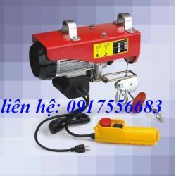 Tời điện mini PA200 tải trọng nâng 100-200kg cáp 10-20m dùng điện 1pha 220v