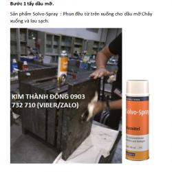 Chất tẩy dầu mỡ, chất tẩy rửa hiệu quả cao, Solvo-Spray cho khuôn nhựa