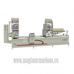 Máy cắt nhôm 2 đầu Trung Quốc - máy sản xuất cửa nhôm