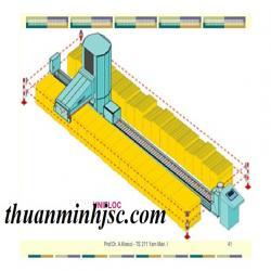 xích nhựa dẫn cáp cho nhà máy sợi