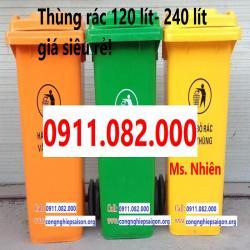 Chuyên cung cấp thùng rác 120 lít 240 lít giá rẻ cà mau